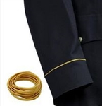 "US Army Uniform Accessory: Soutache 1/8"" Cut Gold Army Braid - For Dress Blues - Per Yard"