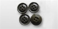 US Army Buttons: Fatigue Buttons 30L OD-Green - Set of 4 Buttons