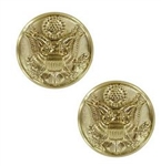 US Army Buttons: Eagle Screw Cap Buttons W/Tube
