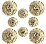 US Army Button Set:  4-36 Ligne and 4-25 Ligne Officer Eagle - for Blue Dress - Male