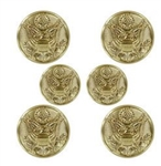US Army Button Set: Female - Green Classic Uniform or Blue Dress - Eagle - 4-30 Ligne & 2-25 Ligne - 22k
