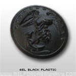 USMC Buttons: 45 Ligne Black Plastic -  Each