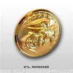 USMC Buttons: 27 Ligne Anodized - 2 Each