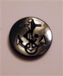 US Navy Button: 50 Ligne Black Anchor Plastic Button - For Peacoat