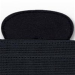 US Navy Cap Stretch Bands with Mounts: Officer Black