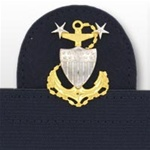 USCG Cap Device On Stretch Band: Master Chief Petty Officer E9
