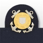 USCG Cap Device On Stretch Band: Enlisted