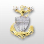 USCG Miniature Cap Device - Gold and Silver: Master Chief Petty Officer E9