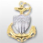 USCG Miniature Cap Device - Gold and Silver: Chief Petty Officer E7