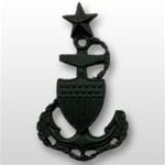 USCG Miniature Cap Device - Black Metal: Senior Chief Petty Officer E8