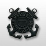 USCG Miniature Cap Device - Black Metal: Enlisted