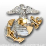 USMC Cap Device: Officer Dress Cap - Gold And Silver