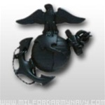 USMC Cap Device: Officer Garrison Cap - Black