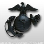 USMC Cap Device: Officer Service Cap - Black