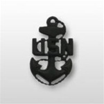 US Navy Cap Device Subdued Black Metal: E-7 Chief Petty Officer (CPO)