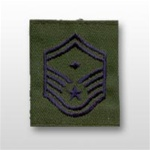 USAF Enlisted GoreTex Jacket Tab: E-8 Senior Master Sergeant (SMSgt) with Diamond - For BDU