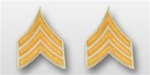 US Army Rank Gold/White: E-5 Sergeant (SGT)