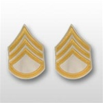 US Army Rank Gold/White: E-6 Staff Sergeant (SSG)