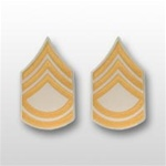 US Army Rank Gold/White: E-7 Sergeant First Class (SFC)