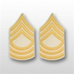 US Army Rank Gold/White: E-8 Master Sergeant (MSG)