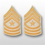 US Army Rank Gold/White: E-9 Sergeant Major (SGM)