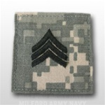 US Army ACU Rank with Hook Closure: E-5 Sergeant (SGT)