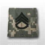 US Army ACU Rank with Hook Closure: E-6 Staff Sergeant (SSG)