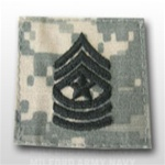 US Army ACU Rank with Hook Closure: E-9 Sergeant Major (SGM)