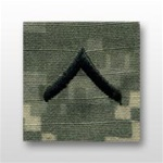 US Army ACU Cap Device, Sew-On:  E-2 Private (PV2)