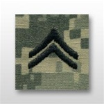 US Army ACU Cap Device, Sew-On:  E-4 Corporal (Cpl)