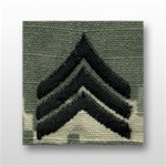 US Army ACU Cap Device, Sew-On:  E-5 Sergeant (SGT)