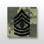 US Army ACU Cap Device, Sew-On:  E-8 First Sergeant (1SG)