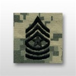 US Army ACU Cap Device, Sew-On:  E-9 Sergeant Major (SGM)
