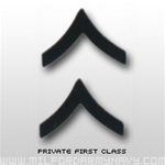 USMC Black Metal Collar Insignia: E-2 Private First Class (PFC)