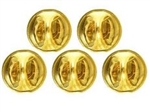 US Army Accessory: Butterfly Clutch Fastener - Brass (package of 5)