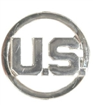 USAF Collar Insignia:  U.S. Letters - Mirror Finish - For Enlisted