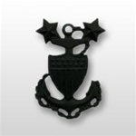 USCG Collar Device - Black Metal: E-9 Master Chief Petty Officer (MCPO)