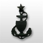 USCG Collar Device - Black Metal: E-8 Senior Chief Petty Officer (SCPO)