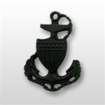USCG Collar Device - Black Metal: E-7 Chief Petty Officer (CPO)