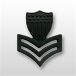 USCG Collar Device - Black Metal: E-6 Petty Officer First Class (PO1)