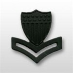 USCG Collar Device - Black Metal: E-5 Petty Officer Second Class (PO2)