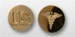 US Army Enlisted 22k Anodized Branch Insignia: US and Medical
