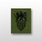 US Army Badges Subdued Fatigue: Aides Insignia: Aide To O-10 General (GEN) - Embroidered