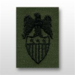 US Army Badges Subdued Fatigue: Aides Insignia: Aide To  O-9 Lieutenant General (LTG) - Embroidered