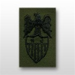 US Army Badges Subdued Fatigue: Aides Insignia: Aide To  O-8 Major General (MG) - Embroidered