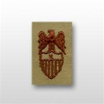 US Army Desert Subdued Aides Insignia: Aide To  O-7 Brigadier General (BG) - Embroidered