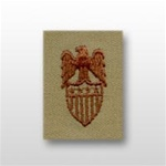 US Army Desert Subdued Aides Insignia: Aide To O-10 General (GEN) - Embroidered