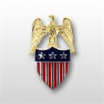US Army Aides Insignia: Aide To  O-9 Lieutenant General (LTG) -  Spec. Quality - Metal