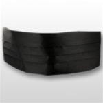 US Army: Black Cummerbund Plain