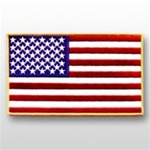 US Flag Patch: American Flag 5î X 8î Gold - 1 Each